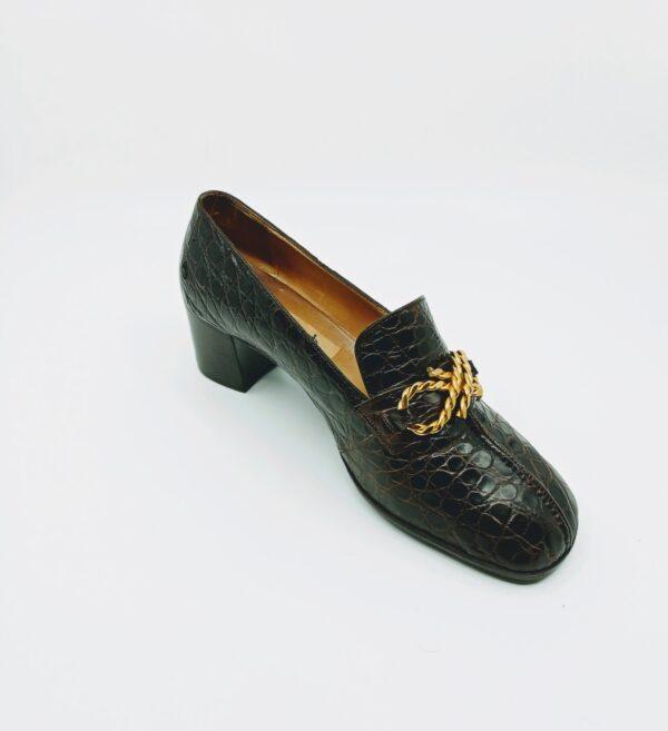 Heeled loafers - vintage Celine 70's