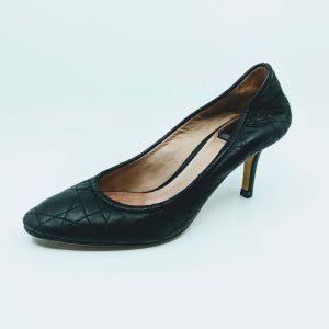 Mid heels round pumps