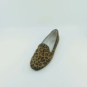 Printed leopard loafers