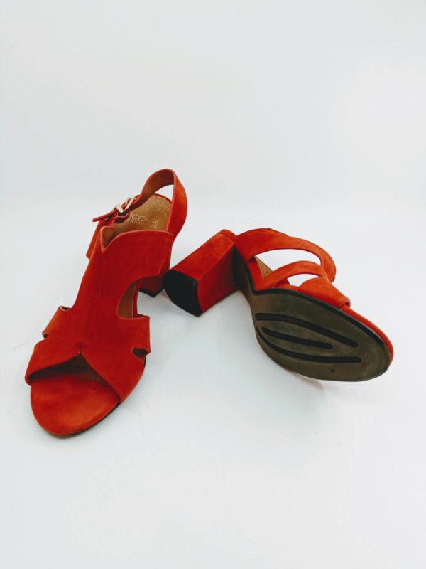 Summer sandals red