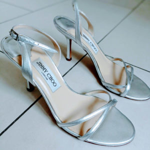 Jimmy Choo silver sandals second hand