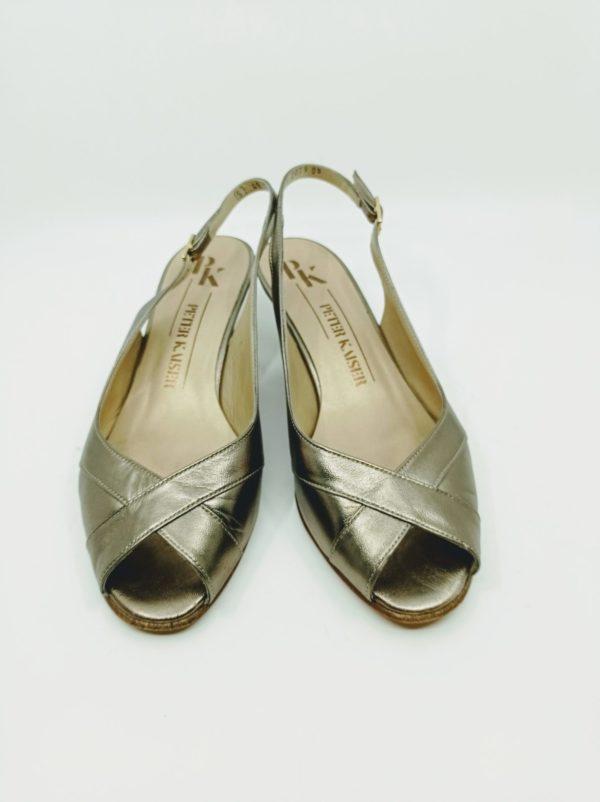 Mid heels sandals in bronze