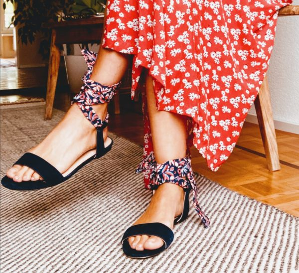 flat sandals with bands