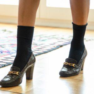 Heeled loafers