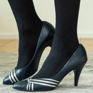 Retro heels pumps