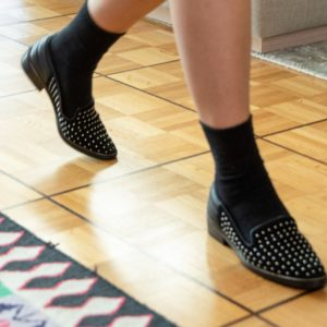 Loafers with studs